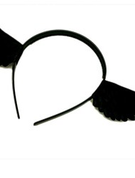 Black Wings of The Angel Halloween Party Headband