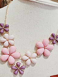 Welly Frauen Blume Vintage Aussage Edelstein Halskette
