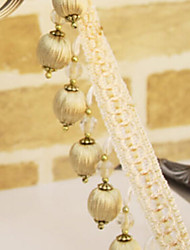 32 feet Country Graceful Hand Made Trim - Yellow Bead Pendant