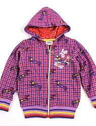 Детские толстовки моды зимняя одежда цветочной вышивкой с длинным рукавом девочек и девушек толстовки случайный печать