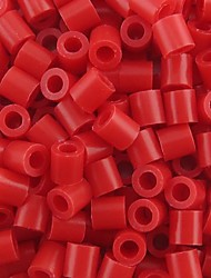 Approx 500PCS/Bag 5MM Red Perler Beads Fuse Beads Hama Beads DIY Jigsaw EVA Material Safty for Kids