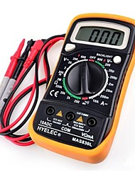 Hyelec® MAS830L DC/AC Portable Multimeter Current Voltage Resistance Measuring Digital Tester With Backlight & Case Protection