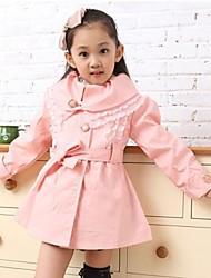 casacos de moda outono trincheira da menina (mais cores)