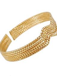 Women's Vintage Alloy Chain Unique Vintage 18K Gold Plated Wave Design Bangles