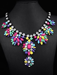 Women's Popular Rainbow Gem Necklace