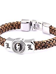 style punk note étouffée bracelet l cuir marron (1 pc)