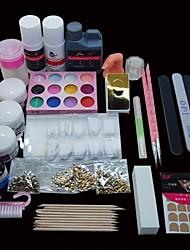 46PCS Pro Nail Art Design Kit Acrylic Primer Powder Manicure Set