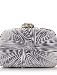 Women Bags All Seasons Polyester Evening Bag with Crystal/ Rhinestone for Event/Party White Black Silver Purple Blue