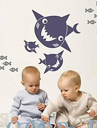 Wall Stickers Wall Decals,  Cartoon The shark fish PVC Wall Stickers
