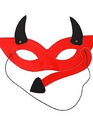 rouge diable PVC masque pour les yeux de partie de Halloween