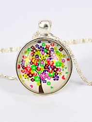 Women's Galaxy Tree Style Gemstone Necklace