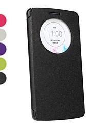 Pour Coque LG Avec Ouverture Clapet Coque Coque Intégrale Coque Couleur Pleine Dur Cuir PU pour LG LG G3