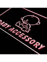 S032 acessórios Baby Shop sinal logotipo atração luz neon
