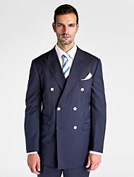 Dark Blue 100% Wool Tailored Fit Jacket