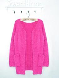 Women's Long Loose Circle Cashmere Sweater Pocket Cardigan Sweater