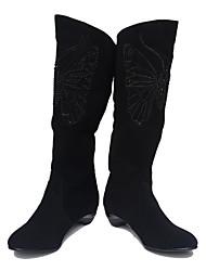 молодых модные женские полусапоги пятки 2850 черные