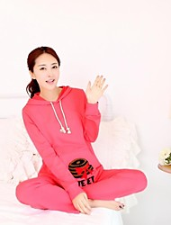 Maternity Hooded Small Straw Hat Casual Cotton Sports Suit