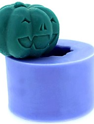 Halloween Pumpkin Fondant Cake Chocolate Candle Silicone Mold,L4.3cm*W4.3cm*H3.3cm