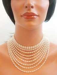 Women's European Fashion Crystals  Imitation Pearls  Necklace (1 Pc)