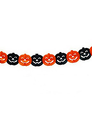 Black&Orange Tissue Pumpkin Design Garlands Holloween Decorations