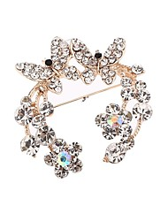 Ladies'/Women's Stainless Steel Brooch Silver