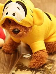 hermosas ropas bordadas flannelette tigre para perro (de diferentes tamaños)