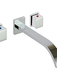 contemporaine répandue salle de bains robinet d'évier (support mural)