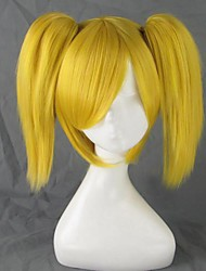 Cosplay Wigs Vocaloid Kagamine Rin Golden Short Anime Cosplay Wigs 35 CM Heat Resistant Fiber Female
