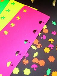5 adesivos de cor papel para soco (5 peças)