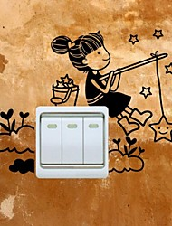 Wall Stickers Wall Decals, Switch Girl PVC Wall Stickers