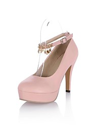 Chaussures Femme - Habillé - Noir / Rose / Beige - Talon Aiguille - A Plateau / Bout Arrondi - Talons - Similicuir