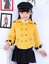 Girl's Solid Color Long Sleeve Coats(More Color)
