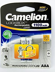Camelion LockBox 1100mAh Low Self-discharge Ni-MH AA Rechargeable Battery (2pcs)