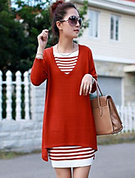 Maternity Fashion Clothing Sets(Stripes Sleeveless T-shirt&V-neck Knitwear)