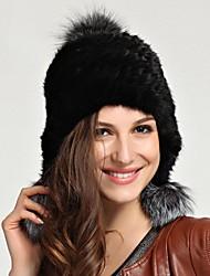 moda vera genuina pelliccia di visone cappello kintted berretto beanie shapka delle donne