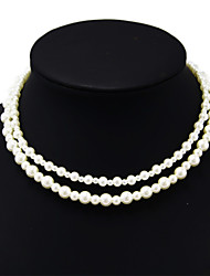 Shixin® Vintage Double Dissymmetry Wedding Pearl Necklace(1 Pc)