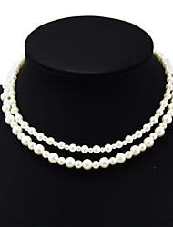 shixin® vintage collier de perles de mariage double de dissymétrie (1 pc)