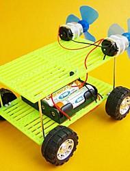 DIY Wind Force Double Fan Double Power Car Novelty Toys