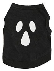 Chat / Chien Costume / T-shirt Noir Printemps/Automne Ange et Diable Cosplay / Halloween
