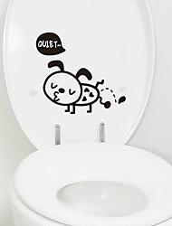 Cartoon Pee puppy Toilet Sticker