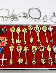 fairy tail teclas constelación lucy y accesorios cosplay símbolo de alianza establecidos (20 piezas)
