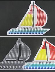 1pcs modello chiaro modello perline Perler barca a vela pegboard per perline hama 5 millimetri fusibile perline