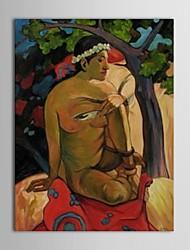 la gente la pintura al óleo pintada a mano del cuerpo del hombre desnudo con el marco de estirado