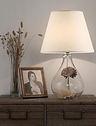 lampes de table en verre blanc de 220v style simple européen du nord moderne