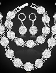 vindima muçulmano allah colar brincos conjunto pulseira de platina 18k banhado a ouro jóias dom islâmico para as mulheres