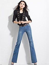 Women's Fashion Loose High Waist Wide Leg Jeans