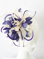 Lilac And Ivory Feather Hair Fascinator