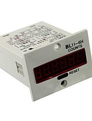 6 dígitos contador marcador digital de AC220V 110v dc12v 24v com reset de fábrica para jdm11-6h