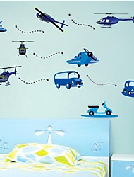 Wall Stickers Wall Decals, Children Airplane Auto Kidsroom PVC Home Decor Wall Stickers