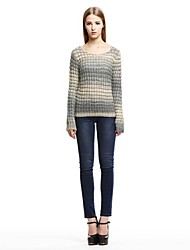 OSA ® Women's O-neck Long Sleeve Hit Color Loose Sweaters